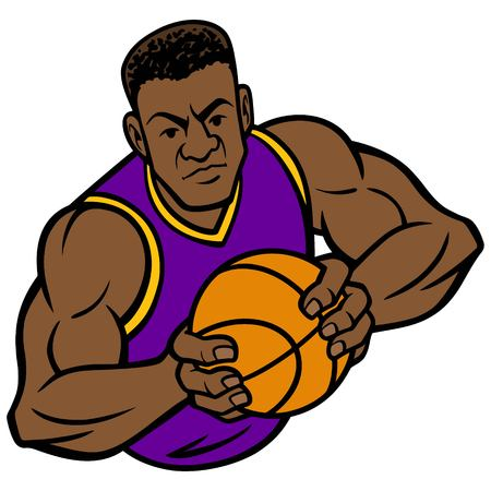 Basketball Player Offense Pose Illusztráció