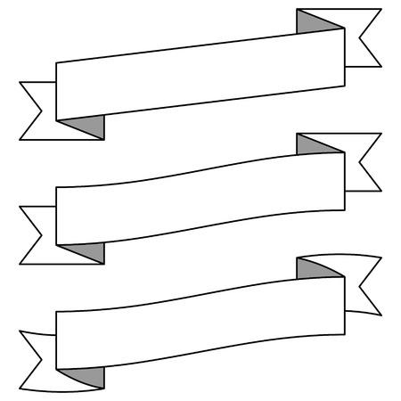 Adjustable Banners Illustration Ilustrace