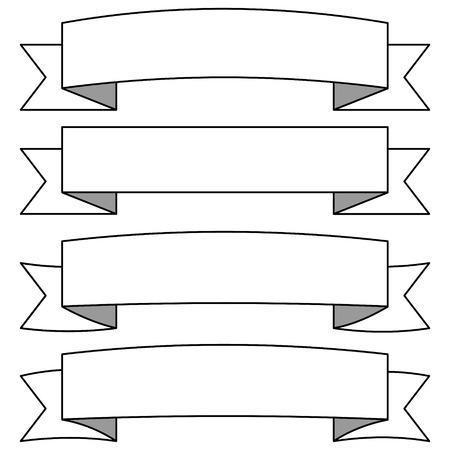 Adjustable Ribbon Banners Illustration