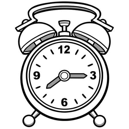 Alarm Clock Illustration - A cartoon illustration of an Alarm Clock.