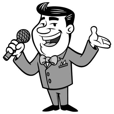 Announcer illustration. Vettoriali