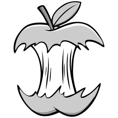 Fruit core illustration. Vettoriali
