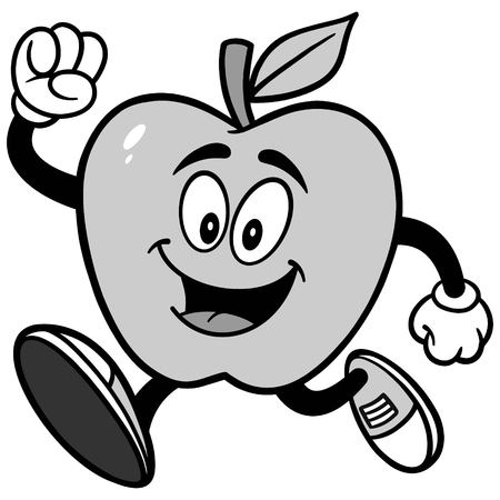 Apple Running Illustration