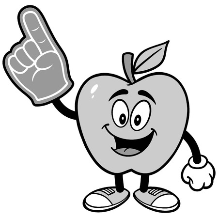 Apple with Foam finger Illustration Illusztráció