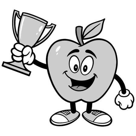 Apple with Trophy Illustration