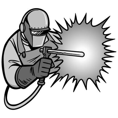 アーク溶接機の図  イラスト・ベクター素材