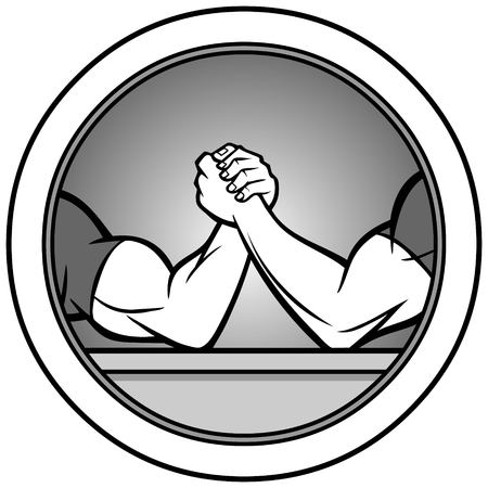 Arm Wrestling Icon Illustration