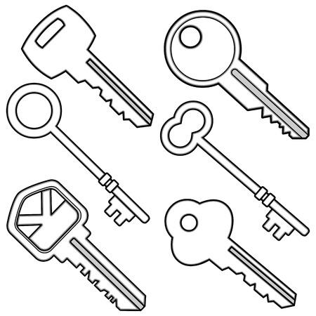 Assorted Keys Illustratie