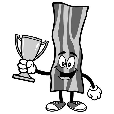 Bacon Strip with Trophy Illustration