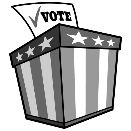 Ballot Box Icon Illustration