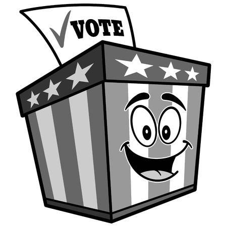 Ballot Box Mascot Illustration