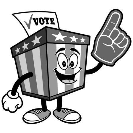 泡指イラスト投票箱マスコット