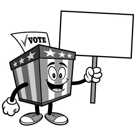 サイン イラスト投票箱マスコット