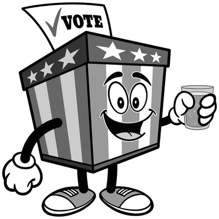 水イラスト投票箱マスコット