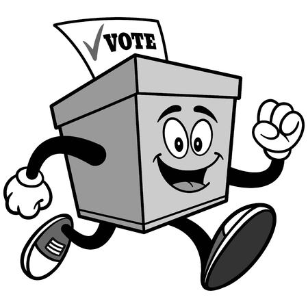 Ballot Box Running Illustration