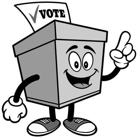 그림을 말하는 투표함 일러스트