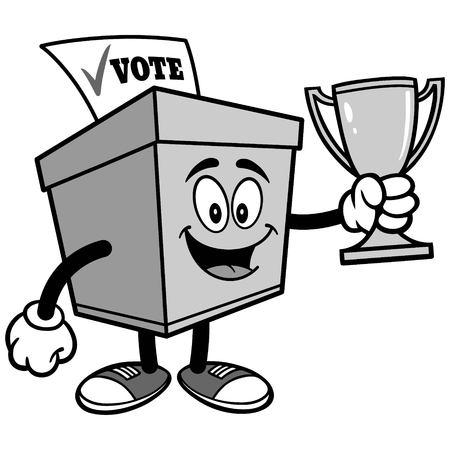 トロフィーのイラストが投票箱