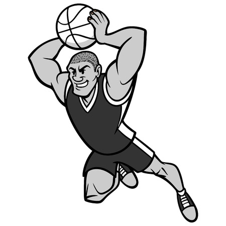 Basketball Player Dunking Illustration 矢量图像