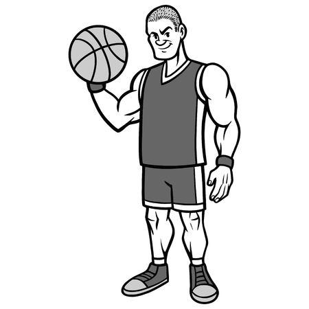 Basketball Player Stance Illustration