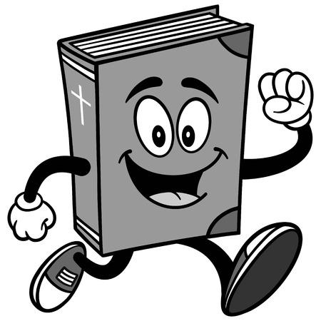 Bible School Mascot Running Illustration