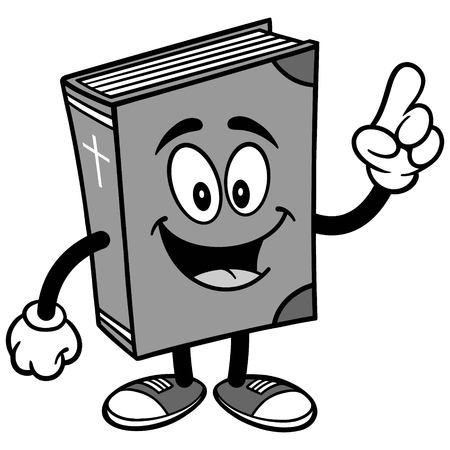 Bible School Mascot Talking Illustration