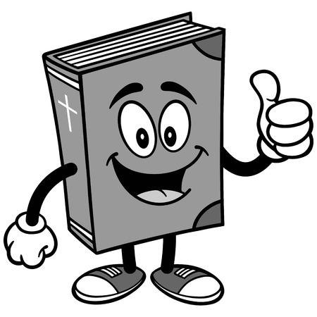 Bible School Mascot with Thumbs Up Illustration Ilustração