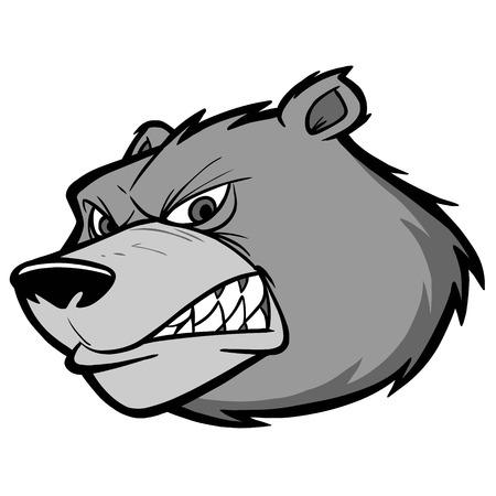 Bear Team Mascot Illustration Ilustração
