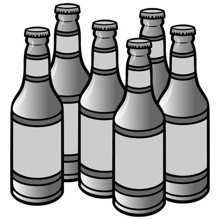 Bierflessen Illustratie Stock Illustratie