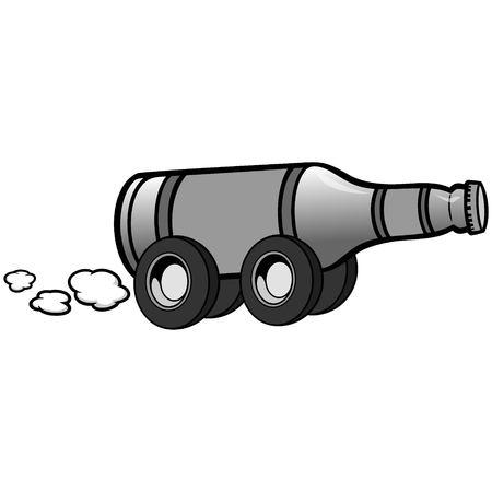 Beer Delivery Illustration Çizim