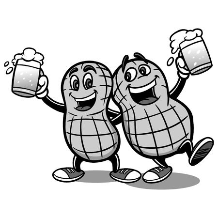 Beer Nuts Illustration