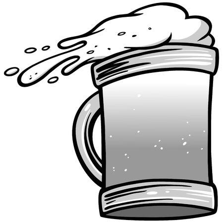 Beer Toss Illustration