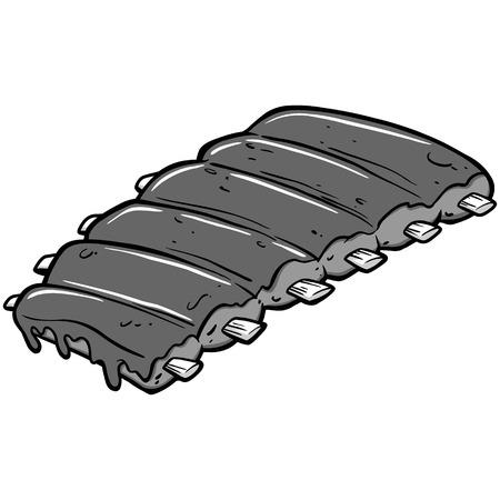 BBQ Ribs Illustration