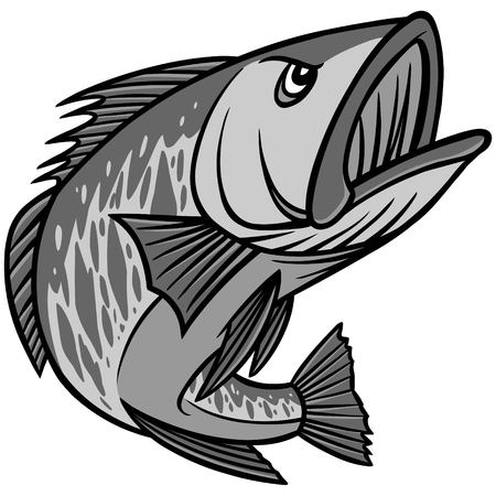 Bass Mascot Illustration
