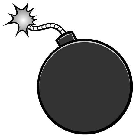 폭탄 일러스트.