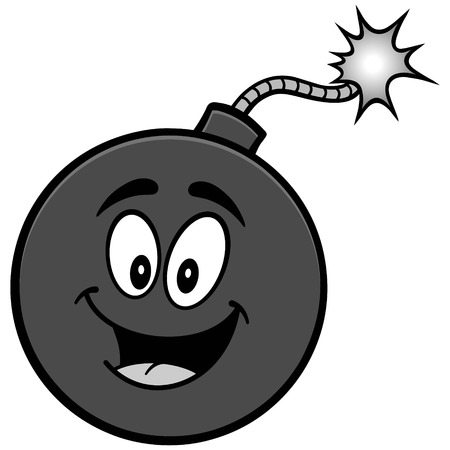 cartoon bomb: Bomb mascot illustration Illustration