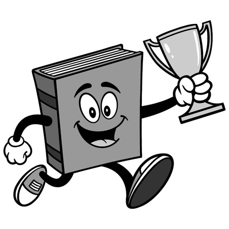 Book with Trophy Illustration