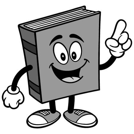 Book Talking Illustration Illusztráció