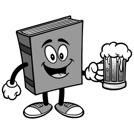 Book with Beer Illustration