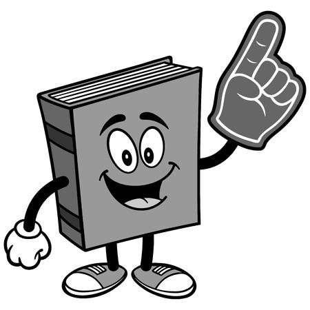 Book with Foam Finger Illustration Illusztráció