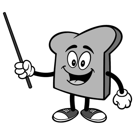 Bread Slice with Pointer Illustration