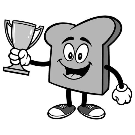 Bread Slice with Trophy Illustration
