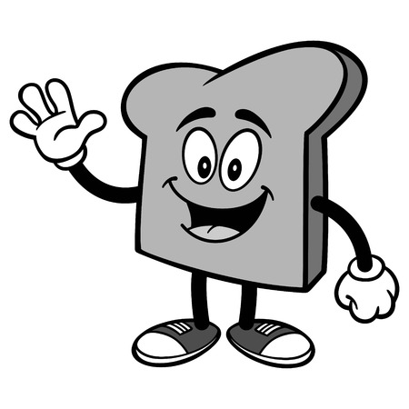 Bread Slice Waving Illustration