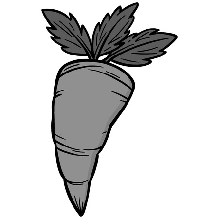Carrot symbol illustration