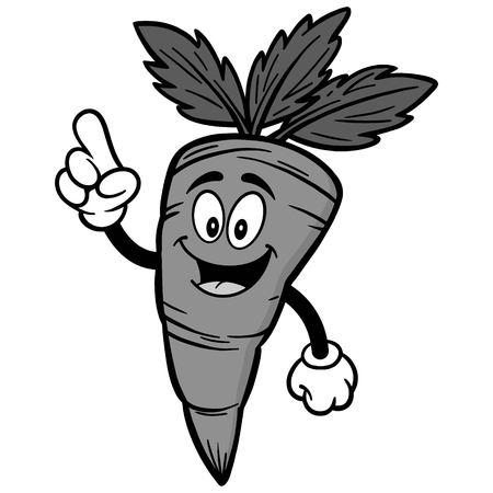 Carrot talking illustration Иллюстрация