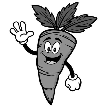 Carrot waving illustration Фото со стока - 84729823