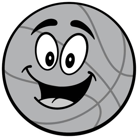 Cartoon basketball illustration Illustration