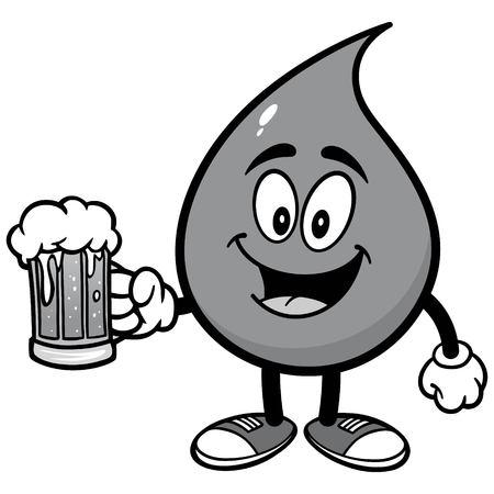 ビール イラスト水ドロップ