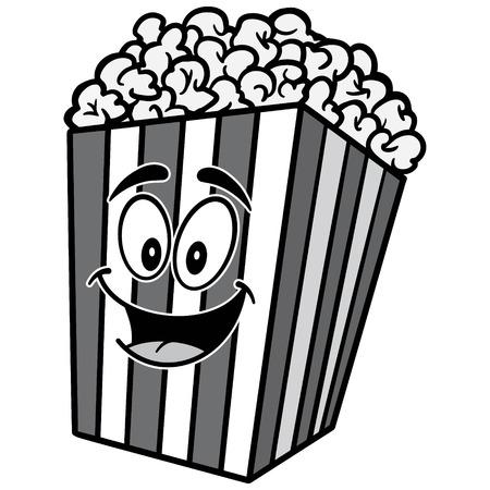 Popcorn Mascot Illustration 向量圖像