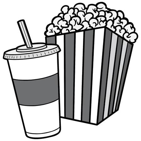 Popcorn and Soda Illustration
