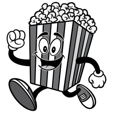 Popcorn Running Illustration 向量圖像